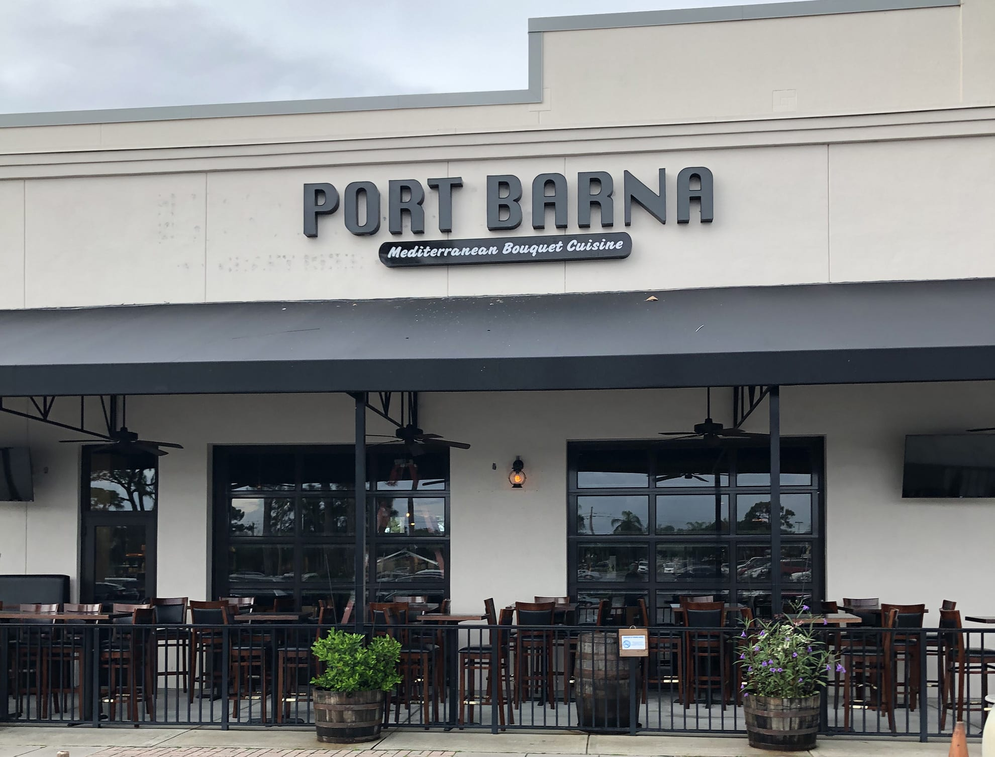 Port Barna Front with the Sign